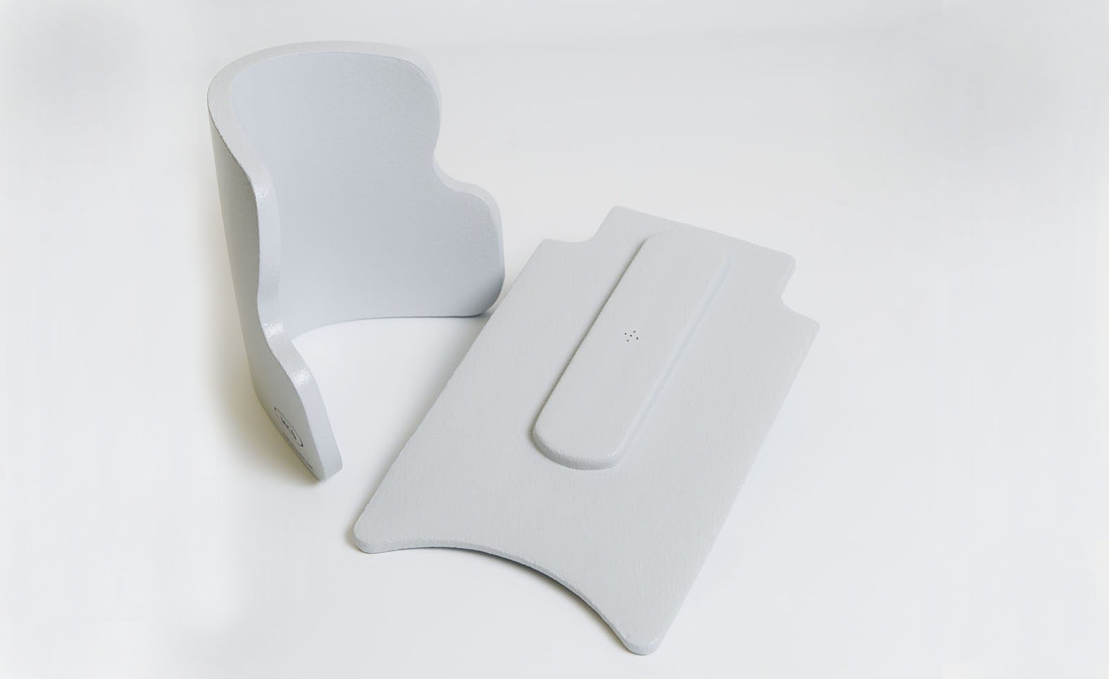 head pad (curved), chest insert cushion